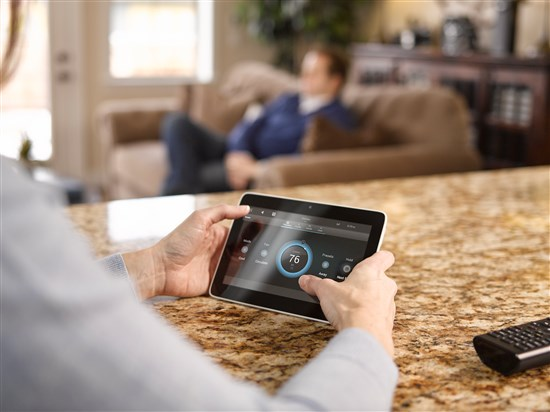Smart homes can be controlled easily from an iPad or Android tablet