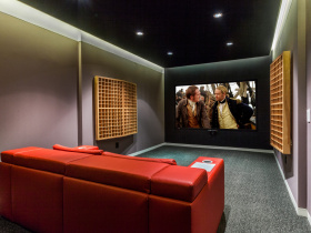 Home theater installation by Metro Eighteen for San Francisco