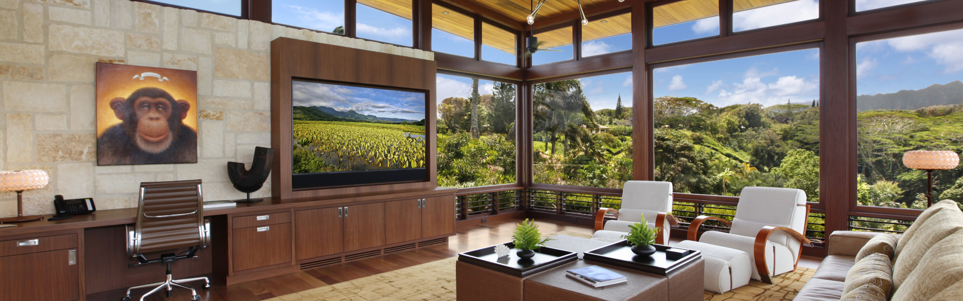 Smart home installation by Pacific Audio Communications for Honolulu