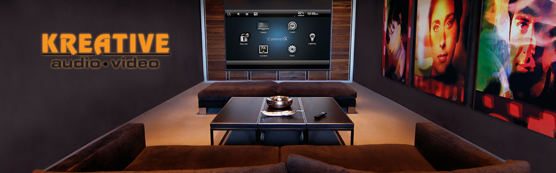 Smart home installation by Kreative AV for Lexington